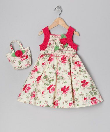 Take a look at this Fuchsia Rose Dress & Hobo - Toddler & Girls by Donita on #zulily today!
