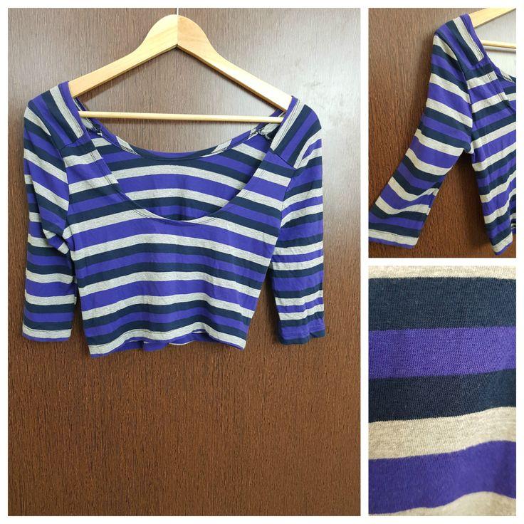 Buy yours today: Striped Purple Gr..., visit http://ftfy.bargains/products/striped-purple-grey-blue-deep-back-crop-top?utm_campaign=social_autopilot&utm_source=pin&utm_medium=pin  #amazing #affordable #fashion #stylish