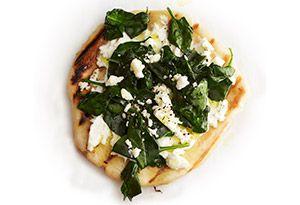 Spinach, Ricotta, and Feta Grilled Pizza Recipe
