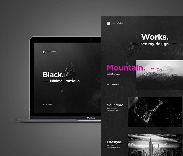 Ознакомьтесь с этим проектом @Behance: «BLACK   Creative Portfolio» https://www.behance.net/gallery/47638519/BLACK-Creative-Portfolio