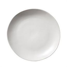 hvid stoneware tallerken