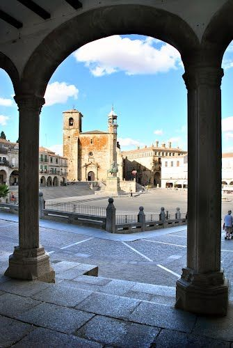 Trujillo -  Plaza Mayor Caceres  Spain