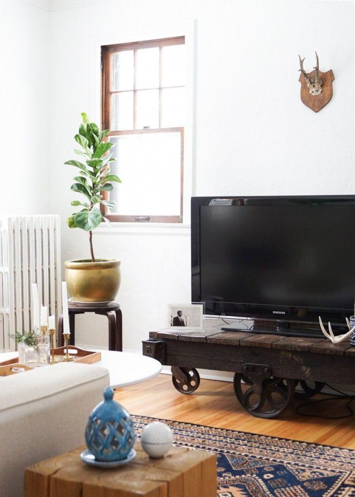 Francois Renovates: Living & Dining Room Before & After   Francois et Moi #figtree #traincart #design #homedecor