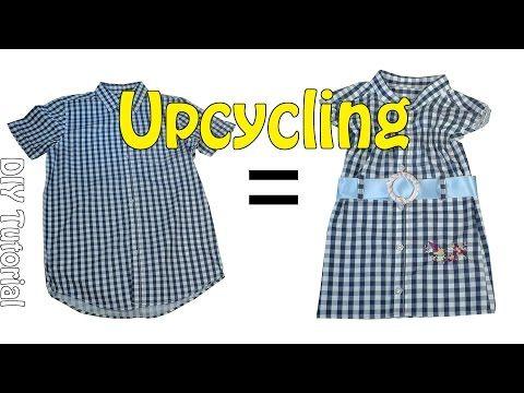 DIY Upcycling | Erwachsenen Hemd =  Kinderkleid nähen | Nähen für Anfänger