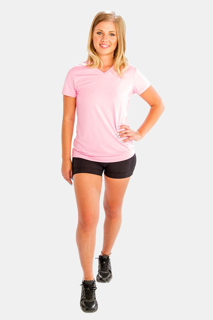 Baby Pink V-Neck #Tees for Women