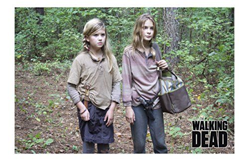 The Walking Dead Mika Samuels Actress Kyla Kenedy and Lizzie Samuels Actress Brighton Sharbino Unsig @ niftywarehouse.com #NiftyWarehouse #WalkingDead #Zombie #Zombies #TV