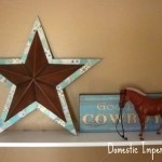 Mod Podge a metal star.