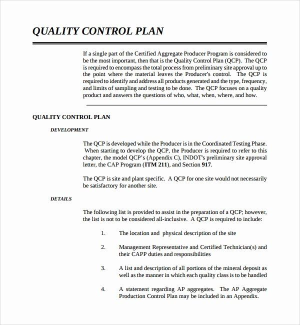 Mortgage Quality Control Plan Template Elegant Sample Quality Control Plan Template 10 Free Doc How To Plan Business Plan Template Free Treatment Plan Template