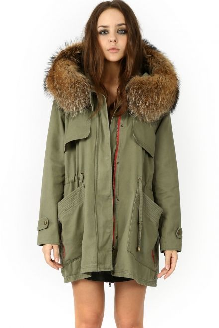 RACOON FUR PARKA Best Parka!!!Love it!!!