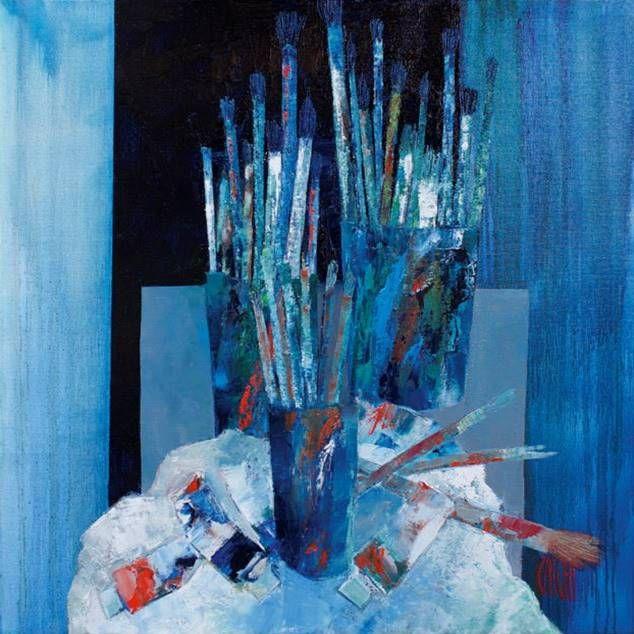Lieu de création  | 80 x 80 cm | Huile sur toile