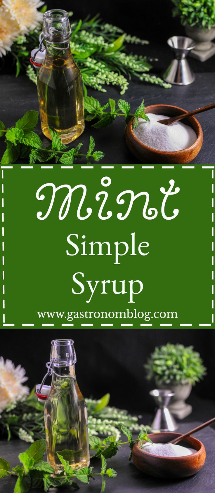 Simple syrups are a staple in cocktail making for us, we love them in our craft cocktails, and especially just out of the garden! This mint simple is perfect for mojitos or a mint julep! Cheers!
