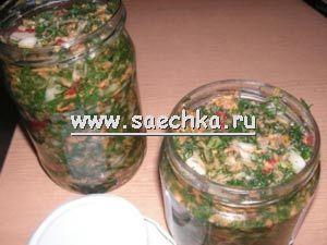 Зеленая заправка для супов