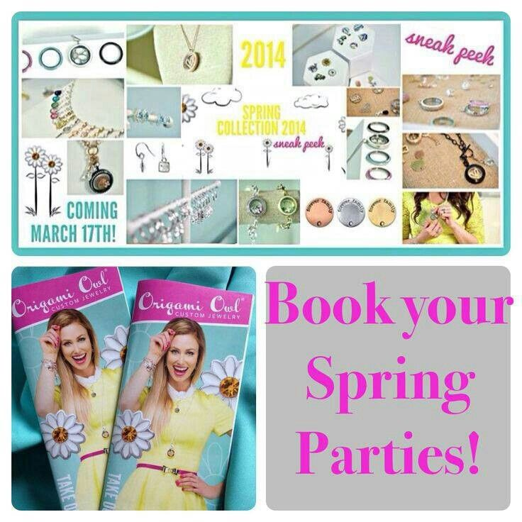 Origami Owl Spring line. Book your Spring parties now!!!!!