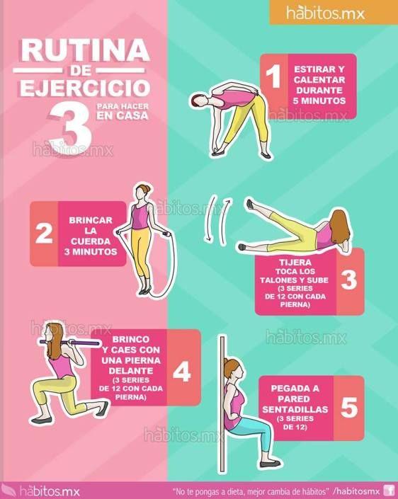 M s de 25 ideas fant sticas sobre rutinas de ejercicios en - Material de gimnasio para casa ...