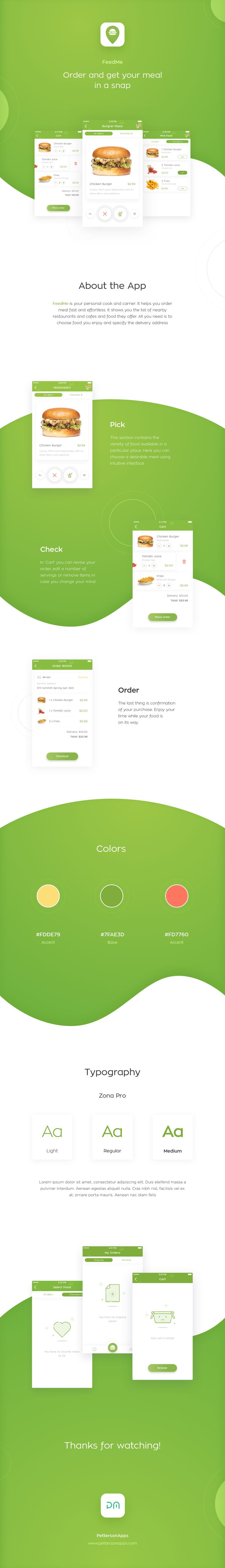 FeedMe is your personal cook and carrier. It helps you order meal fast and effortless. It shows you the list of nearby restaurants and cafes and food they offer. All you need is to choose food you enjoy and specify the delivery address