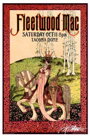 by Bob Masse. Fleetwood Mac  Classic  rock psychedelic music poster  ☮~ღ~*~*✿⊱  レ o √ 乇 !! ~