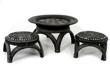 Upcycled tire furniture - for indoors or outdoors