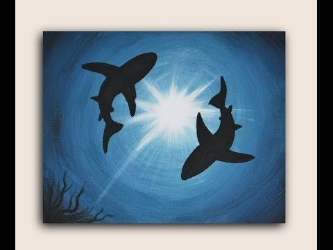 Given my love for shark i 39 ll probably try this but maybe for How paint on canvas