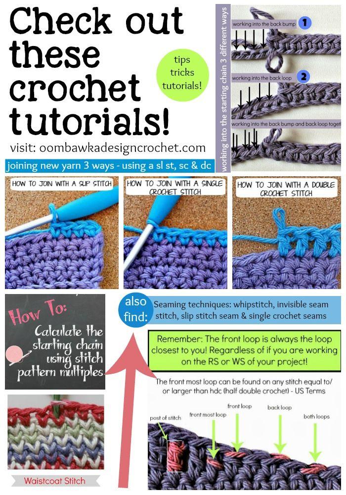 Free Crochet Tutorials from novice to experienced