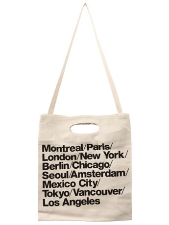 American Apparel Bull Woven Cotton Cities Bag with Strap