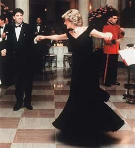 Diana with Travolta at White House