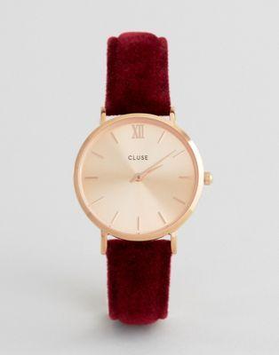 Cluse Red Velvet Minuit Watch CL30042
