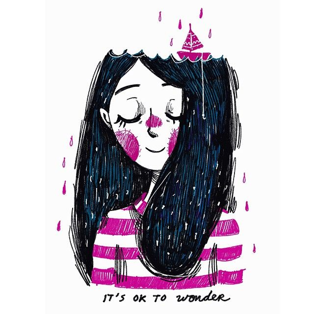 Don't be so hard on yourself, it's okay to let your mind wonder for a bit. Take a break :) #doodleoftheday #hecticdays #notetoself