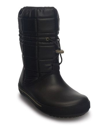 Take a look at this Espresso & Khaki Crocband II.5 Winter Boot - Women by Crocs on #zulily today!