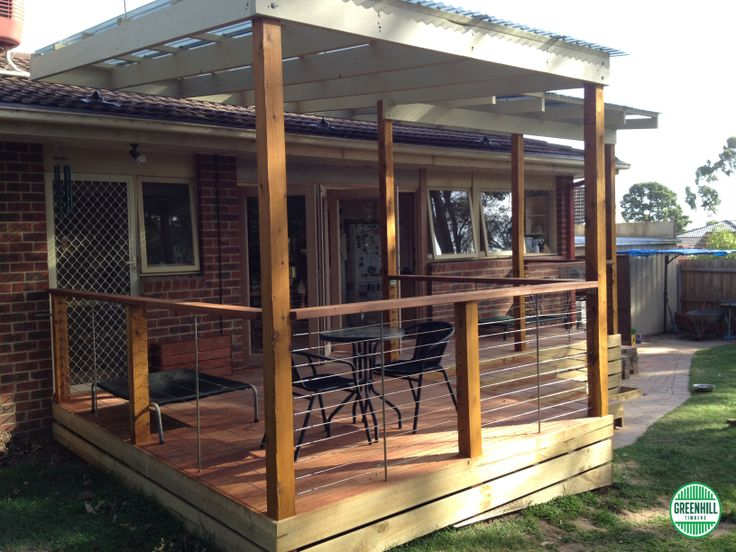 Merbau Decking | Merbau Deck with a lovely outside setting | www.greenhilltimbers.com.au (03) 9465 9875.
