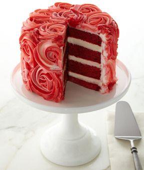 """""""Rose"""" Red Velvet Cake"""