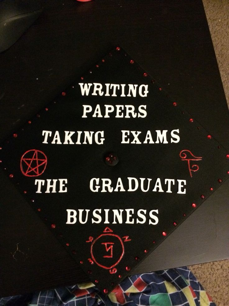 """I'm just finished with my graduation cap! Pretty proud of it. :)"" I do not want to do anything ... #end cap #on this #finished #straight"