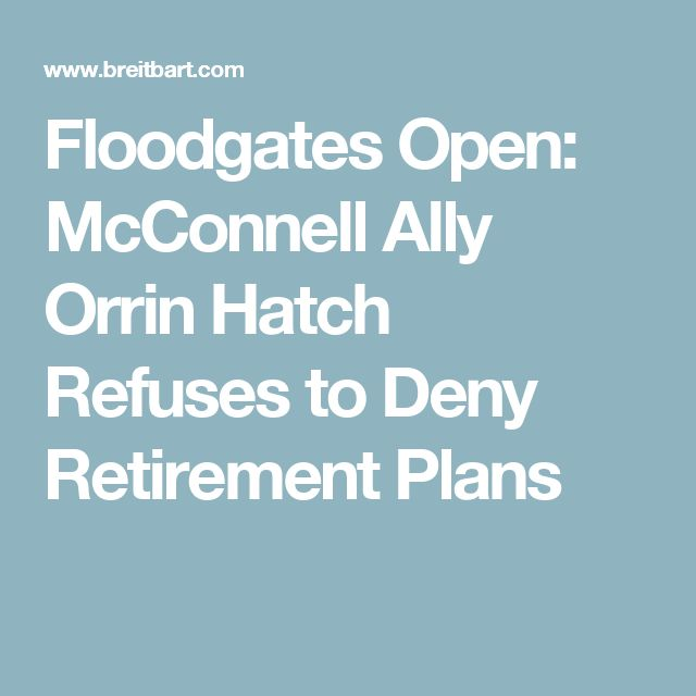 Floodgates Open: McConnell Ally Orrin Hatch Refuses to Deny Retirement Plans