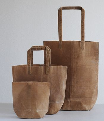Kazumi Takigawa's line of dyed and waxed canvas bags