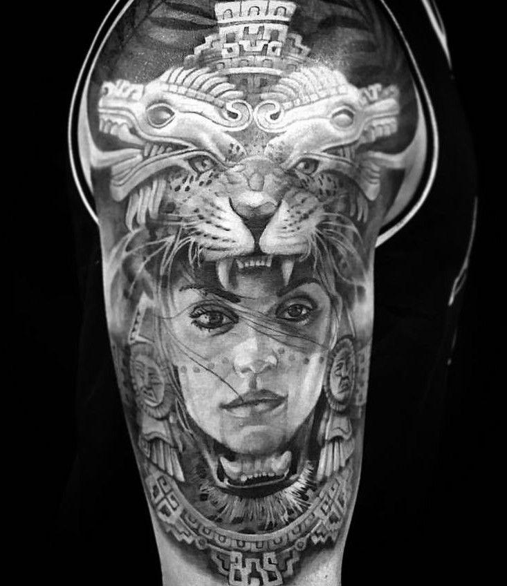 96a5ddeed 50 Of The Best Aztec Tattoos | Aztec Tattoos | Mayan tattoos, Aztec ...