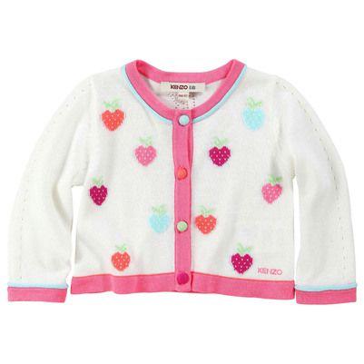 Kenzo Kids - White cardigan with design patterns - 30253