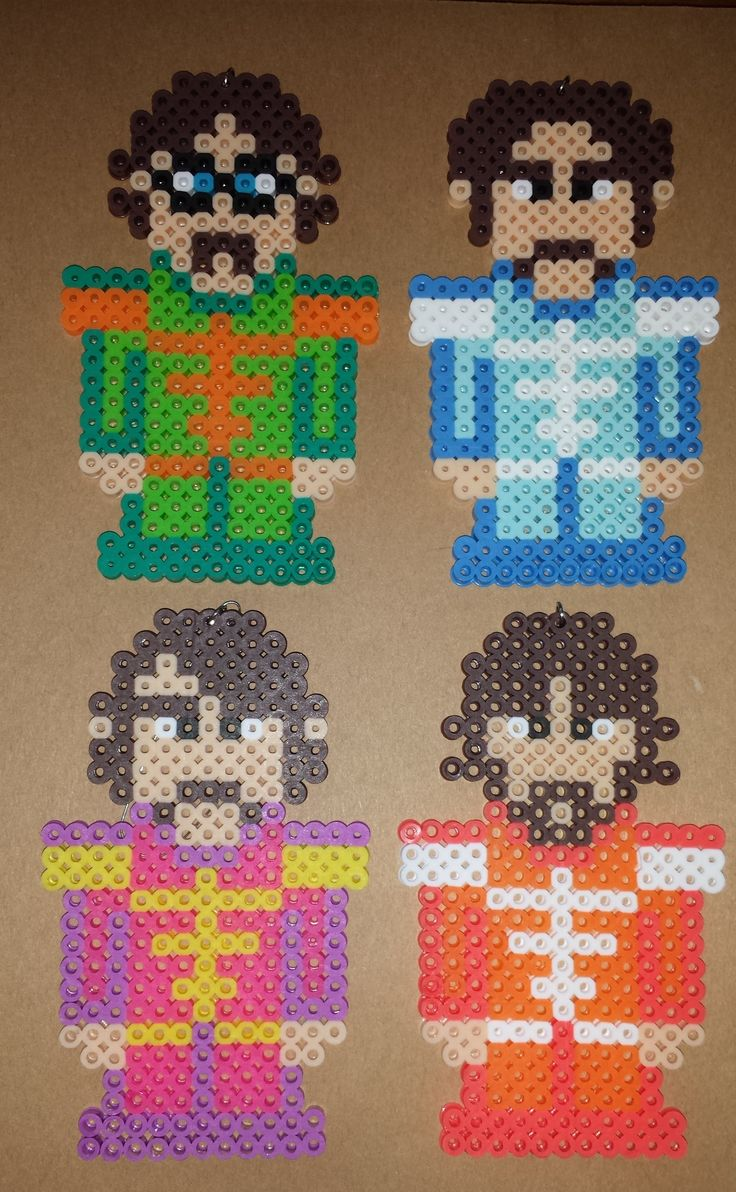 The Beatles from Sgt Pepper's Lonely Hearts Club Band in Perler.