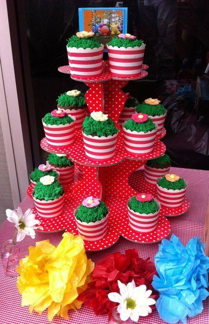 Cupcakes at a Garden Party #garden #party,  Go To www.likegossip.com to get more Gossip News!