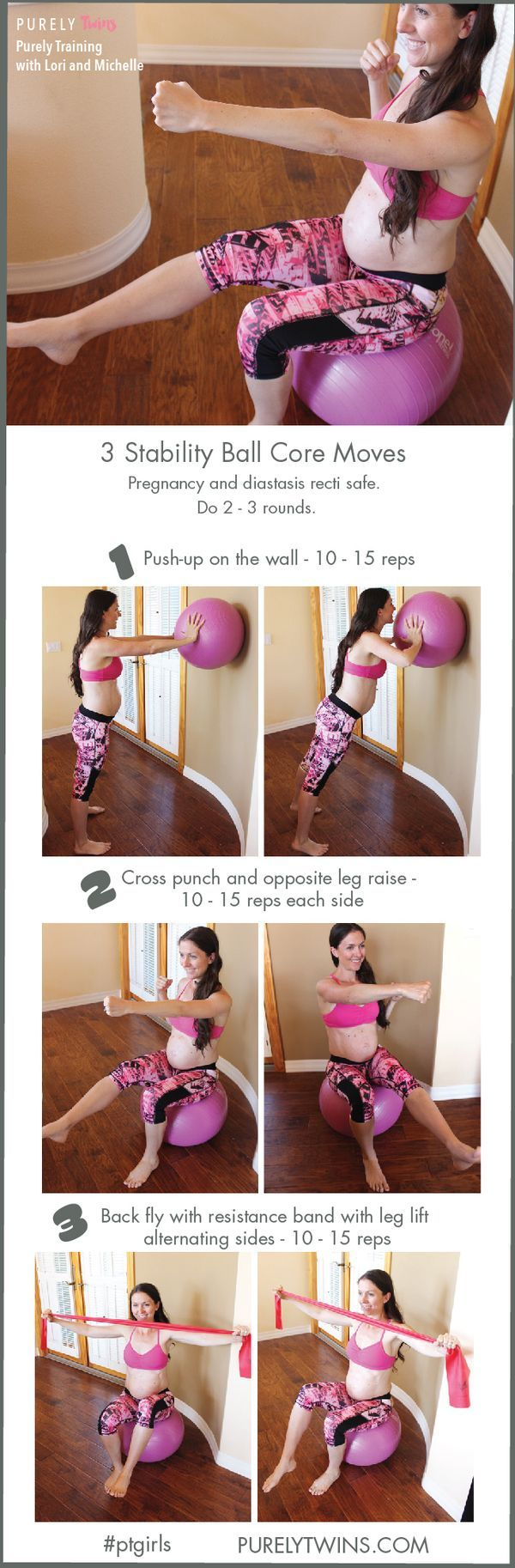 Confused on what are the best and safe CORE exercises to do during PREGNANCY? Especially to help prevent DIASTASIS. Here are 3 must-do core exercises that work the deep core muscles to keep the core and pelvic floor supported as your belly grows over each trimester. Note there are NO front loaded exercises which is key. Great routine for your abs to support your growing baby. #workout