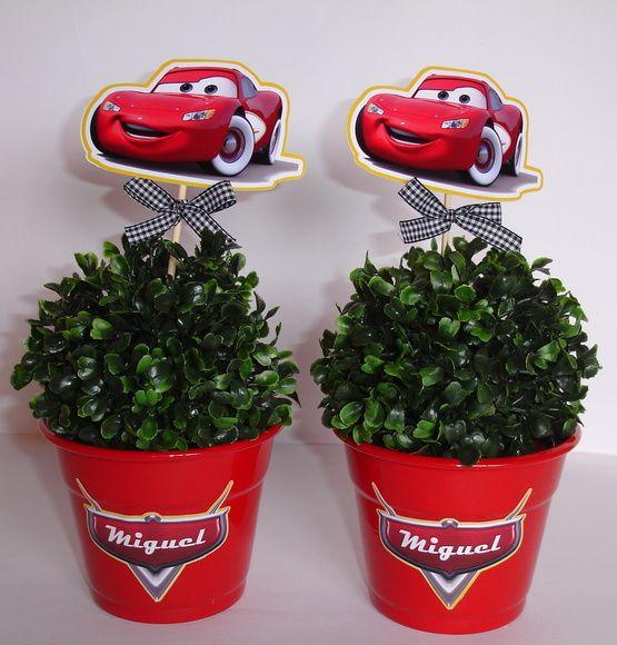 Vaso em Alumínio Tema Carros Disney
