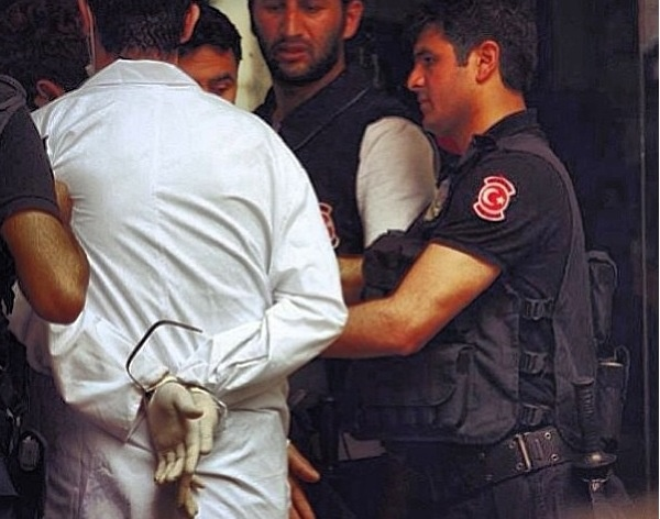 Arresting the doctors who is helping wounded people it is Turkey