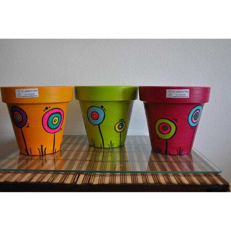 macetas pintadas - Buscar con Google