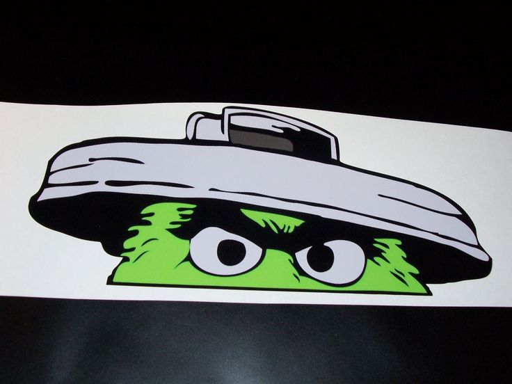 """Funny Oscar the grouch 6.5"""" X 14"""" sticker JDM Low car truck window drift decal Mud Jeep 4X4 by SuperbDecalsLLC on Etsy"""