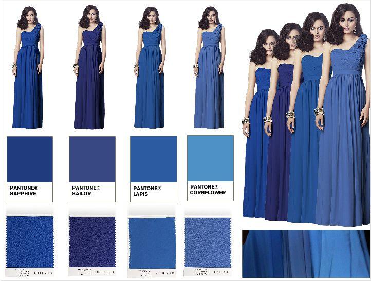 Sapphire Blue Bridesmaids – Fashion design images