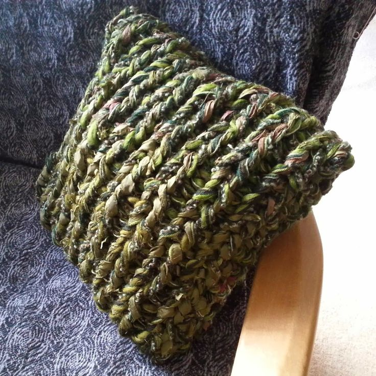 A Final Big Knit Cushion