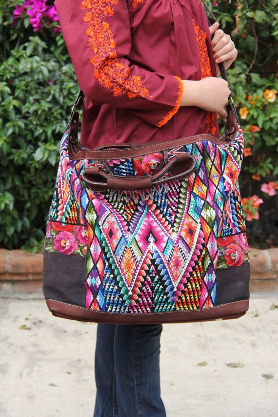 Chiapas Leather Travel Tote Oversized Wow Di Casaotomi Su Etsy 199 00 Bg Pinterest Bags Handbags And Purses