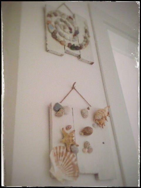 DIY Shabby signs.. sea shells  #Ideeggiando