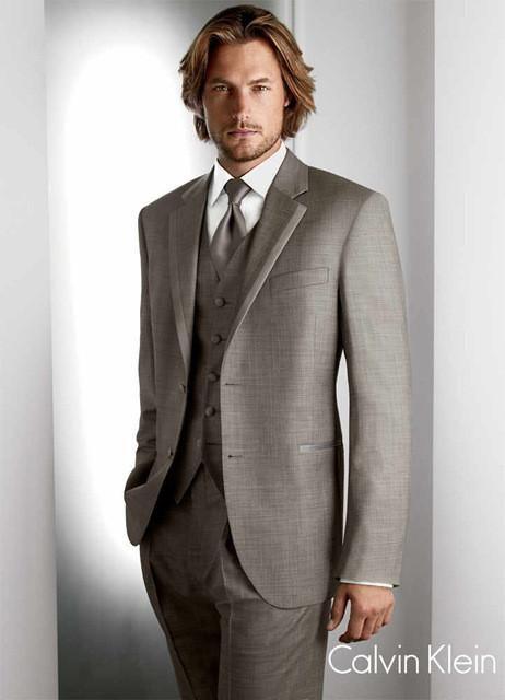 Men's Suit Set ( jacket+Pants+vest+tie)
