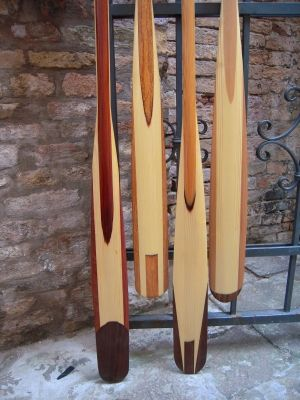 """Paolo Brandolisio  """"Greenland  Kayak Paddles""""  designed to be used for kayaking in Venice Italy...yowser"""