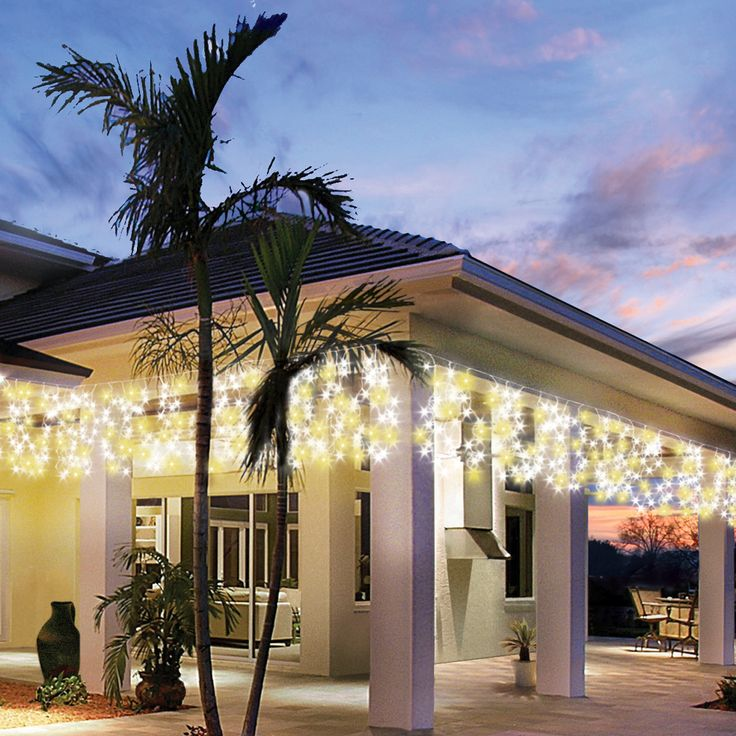 Fairy lights to lighten up your outdoors #festive #christmas