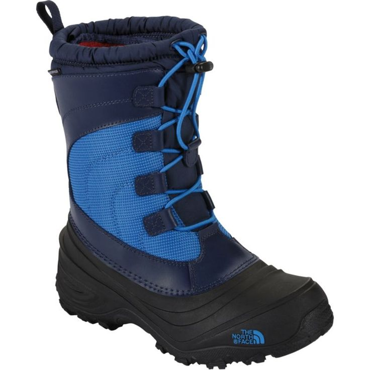 The North Face Kids' Alpenglow IV Lace Waterproof Winter Boots, Blue